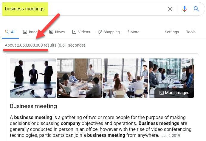Short Meetings–I Want More